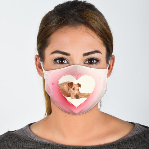 Irish Terrier Print Face Mask