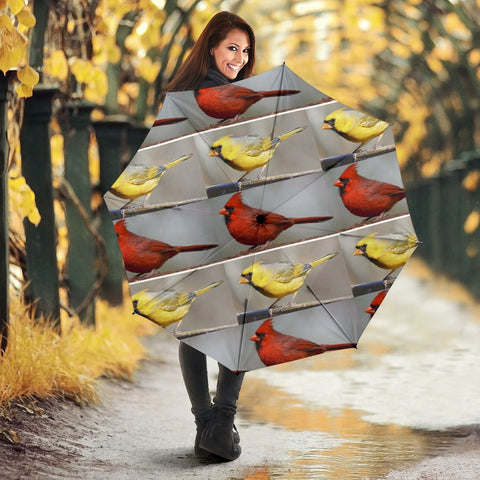 Cardinals birds Print Umbrellas