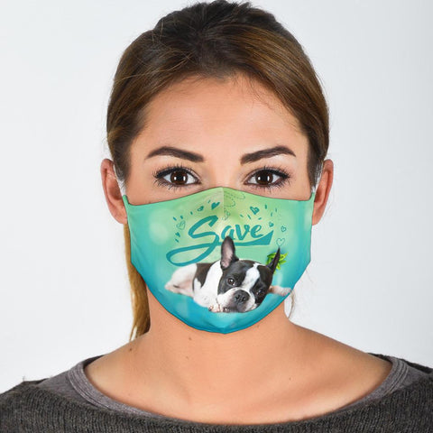 Boston Terrier Save Print Face Mask