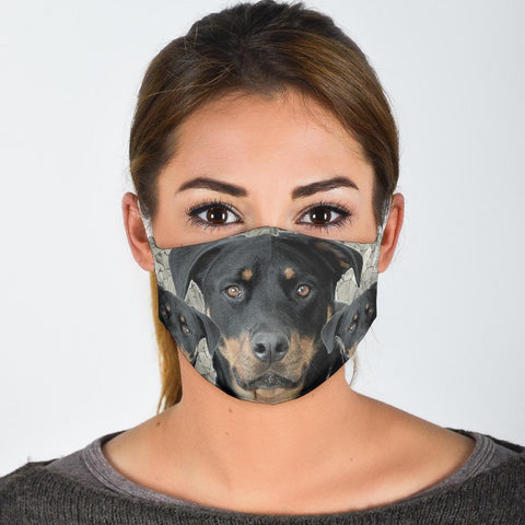 Amazing Rottweiler Print Face Mask