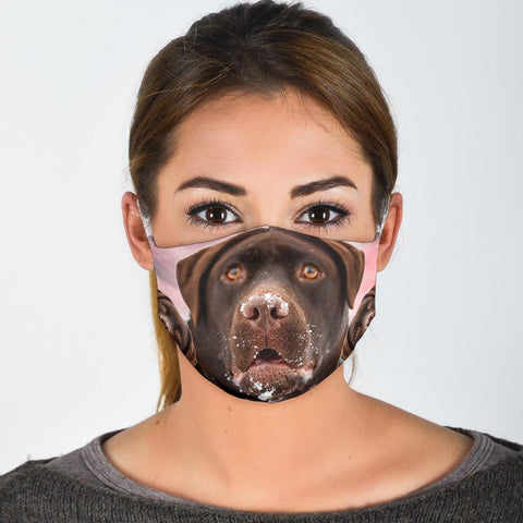 Labrador Retriever Print Face Mask