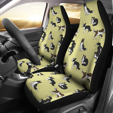 Amazing Border Collie Pattern Print Car Seat Covers