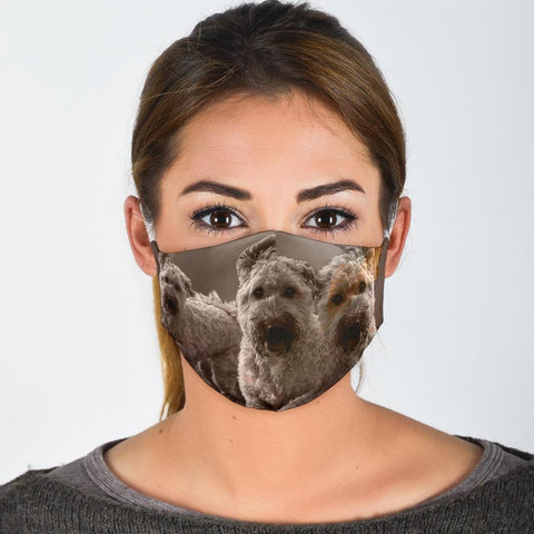Soft Coated Wheaten Terrier Print Face Mask- Limited Edition