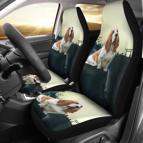 Basset Hound Dog Print Car Seat Covers