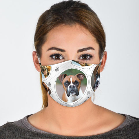 Boxer Dog Print Face Mask