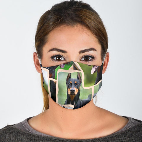 Doberman Pinscher Print Face Mask