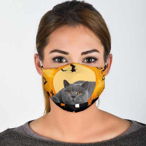 British Shorthair Cat Print Face Mask