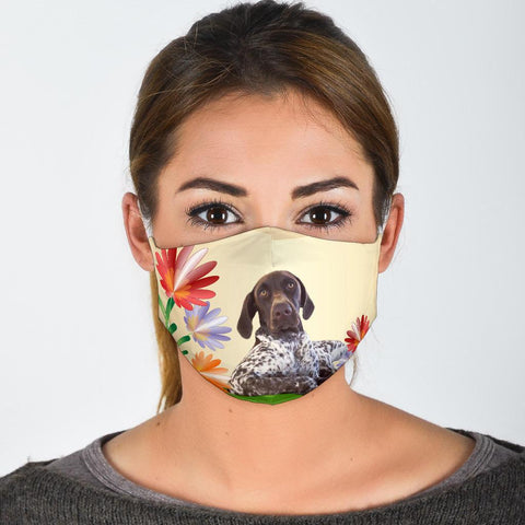 English Pointer Dog Print Face Mask