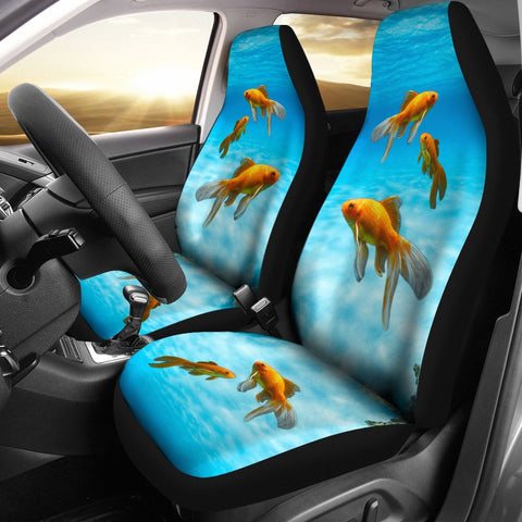 Comet Fish Print Car Seat Covers