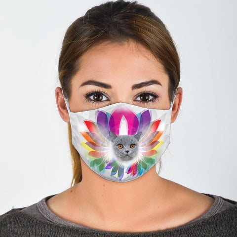 Cute British Shorthair Cat Print Face Mask