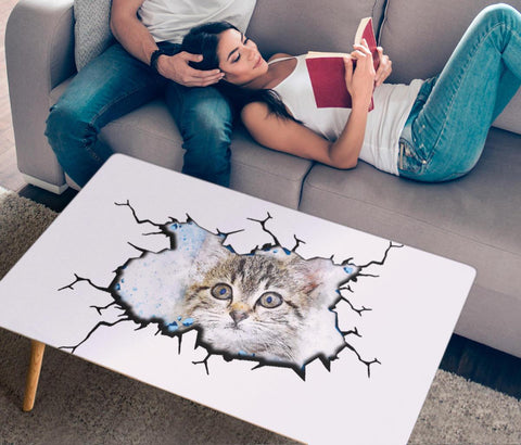 Amazing Cat Art Print Rectangular Coffee Table