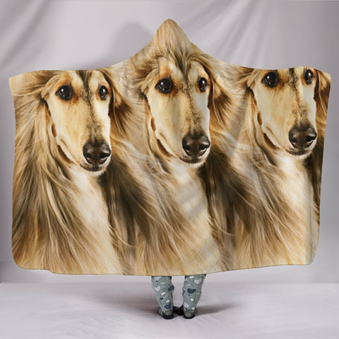 Amazing Afghan Hound Dog Print Hooded Blanket