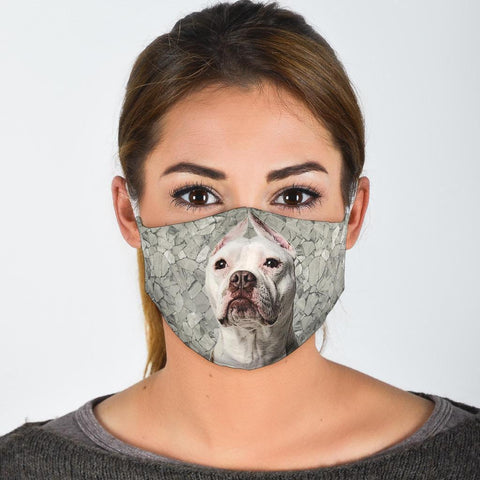 Pit Bull Terrier Print Face Mask- Limited Edition