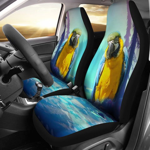 Catalina Macaw Print Car Seat Covers