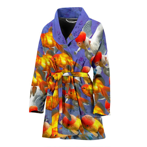 Oranda Fish Print Women's Bath Robe