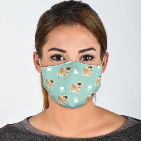 Cute Tibetan Spaniel Patterns Print Face Mask