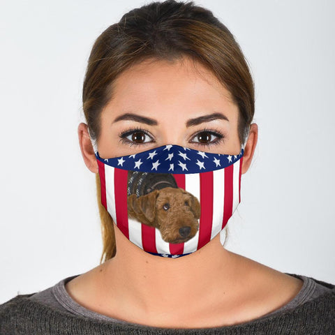 Airedale Terrier Print Face Mask