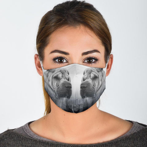 Lovely Shar Pei Print Face Mask