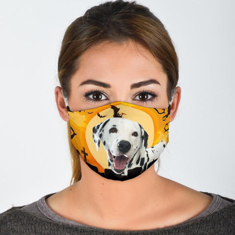 Cute Dalmatian Dog Print Face Mask