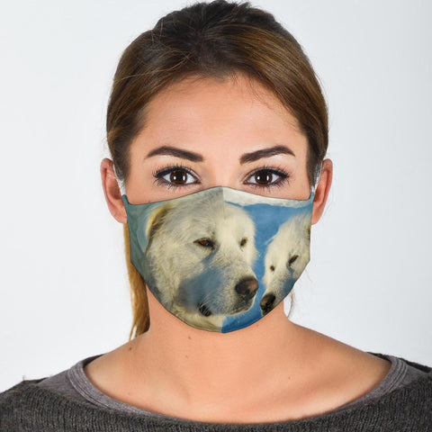 Great Pyrenees Dog Print Face Mask