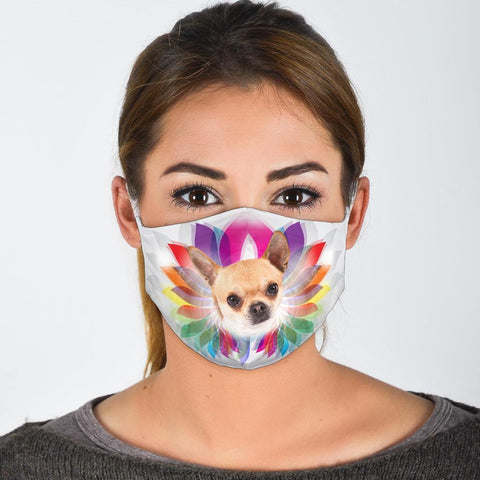 Cute Chihuahua Dog Print Face Mask