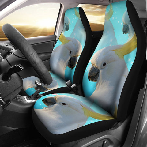 Cockatoo Parrot Print Car Seat Covers