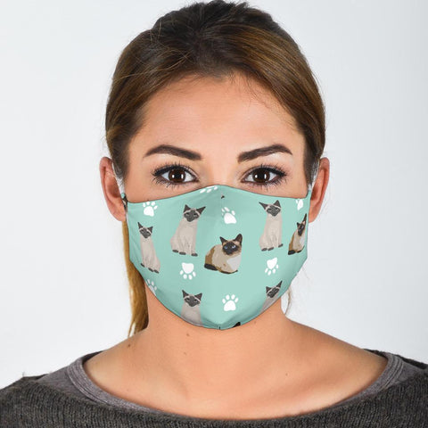 Siamese Cat Patterns Print Face Mask