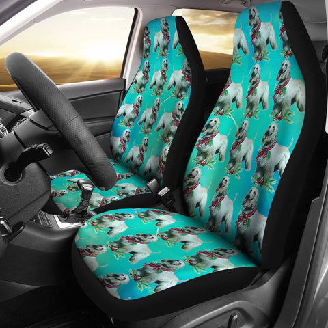 Afghan Hound Dog Pattern Print Car Seat Covers