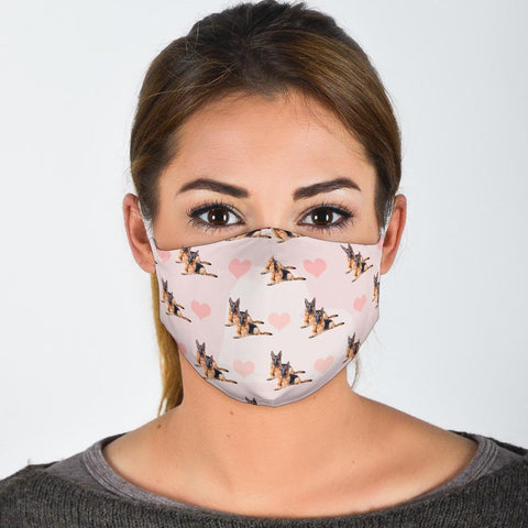 German Shepherd Patterns Print Face Mask
