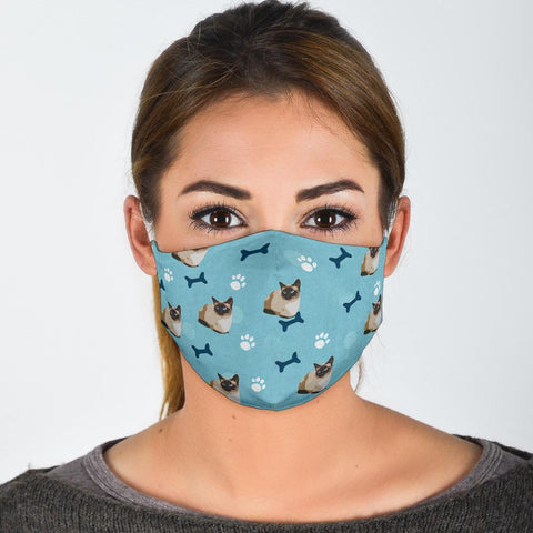 Cute Siamese Cat Patterns Print Face Mask
