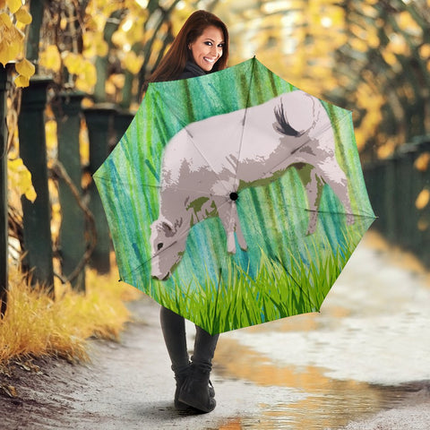 Chianina cattle (Cow) Print Umbrellas
