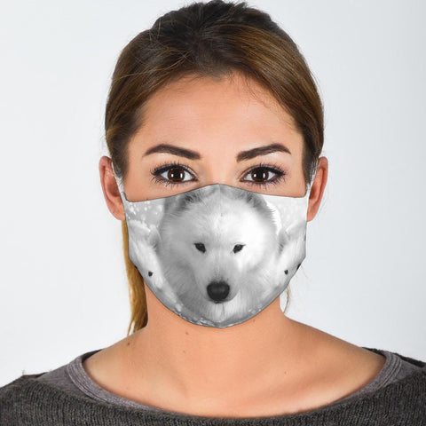 Cute Samoyed Print Face Mask