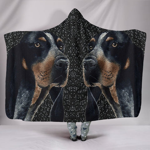 Amazing Bluetick Coonhound Dog Print Hooded Blanket