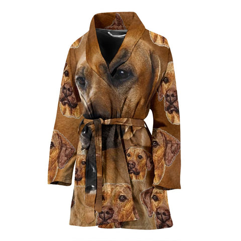 Rhodesian Ridgeback Dog Patterns Print Women's Bath Robe