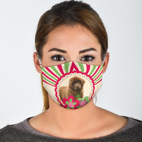 Cute Newfoundland Dog Print Face Mask