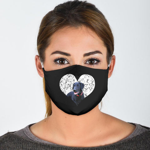 Cute Curly-Coated Retriever Print Face Mask