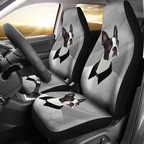 Amazing Boston Terrier Print Car Seat Covers
