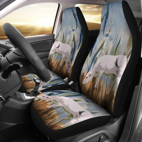 Chianina Cattle (Cow) Print Car Seat Covers