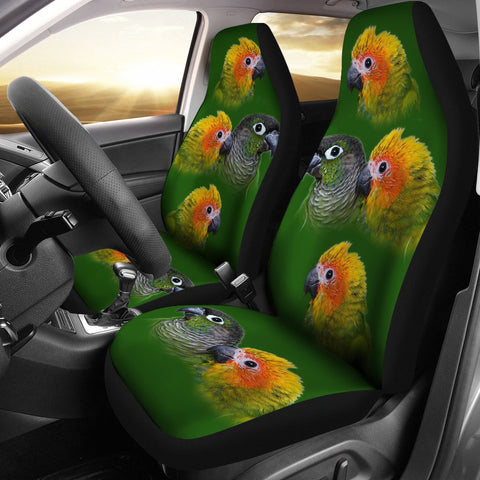 Conure Parrot Print Car Seat Covers