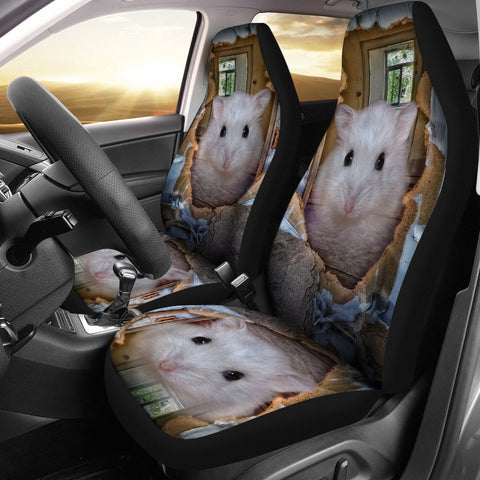 Cute Campbell's Dwarf Hamster Print Car Seat Covers