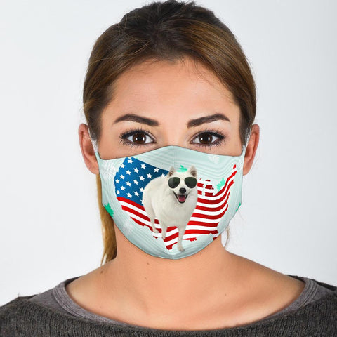 Cute American Eskimo Dog Print Face Mask