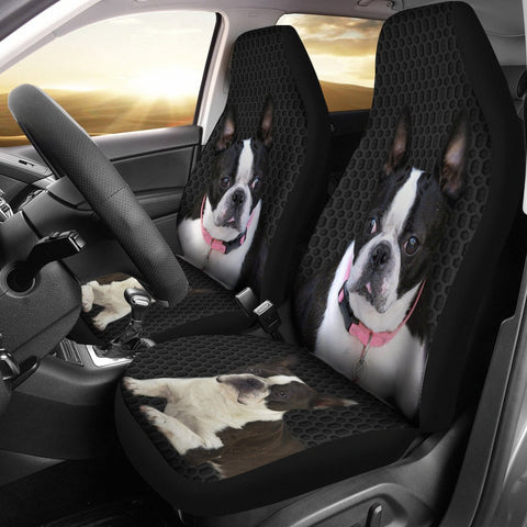 Boston Terrier Print Car Seat Covers