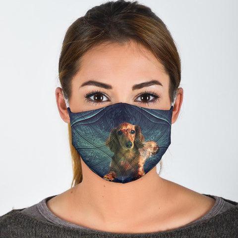 Cute Dachshund Dog Print Face Mask