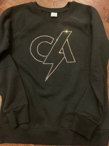 CA Logo outline bling sweatshirt