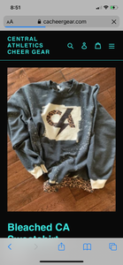 Cheer Mama Custom Bleached Sweatshirt