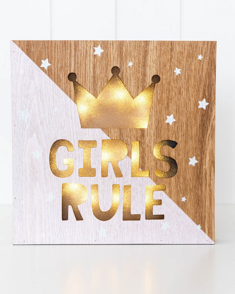 LED LIGHT BOX - GIRLS RULE