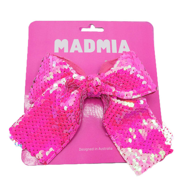 PINK SEQUIN BOW
