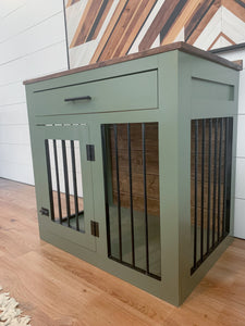 medium dog crate with drawer