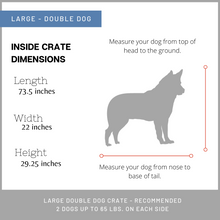Load image into Gallery viewer, Large Double dog crates in San Antonio TX