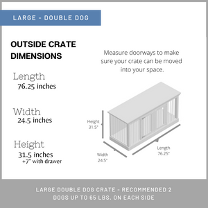Large double dog crates in Austin TX